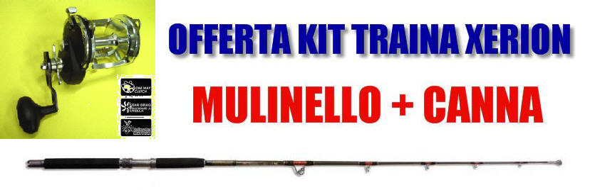 COMBO Mulinello XERION 500 + Canna RS Stand Up 30/50LB (Kit Risparmio)